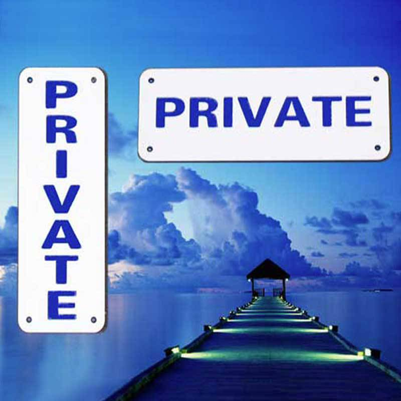 Private Dock Signs