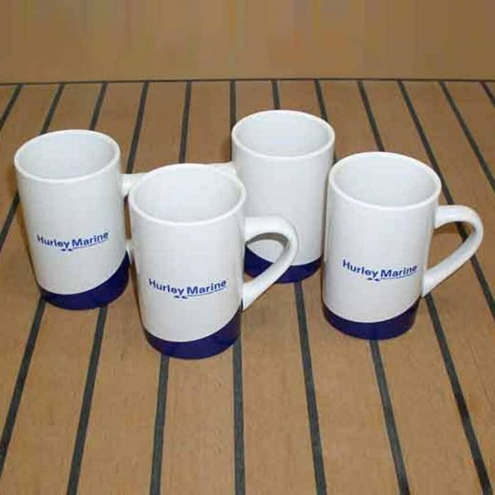 Hurley Marine 9oz. ceramic Coffee Mugs - Set of 4
