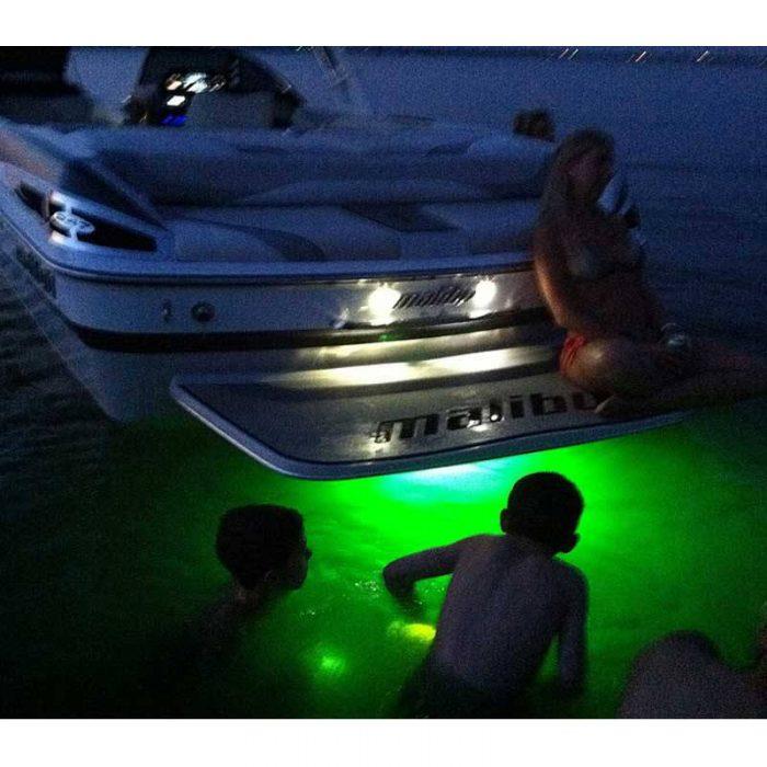 Hurley LED Drain Plug Light™ Green - in use