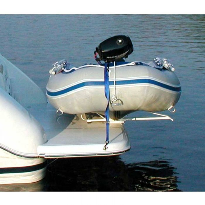 Hurley Marine Traditional Dinghy Davit System Secured with Tie Down Straps