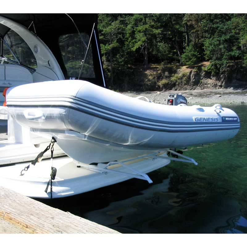 Tender Lifts For Boats : Traditional dinghy davit system economical yet tough