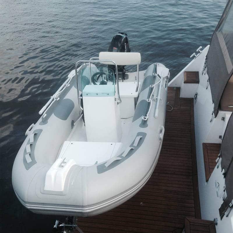 The Hurley Marine H3O Dinghy Davit on boat deck