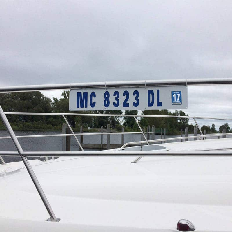 Boat Registration Sign