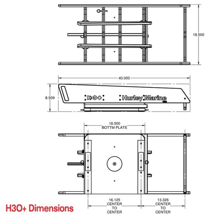 H3O+ Davit Dimensions