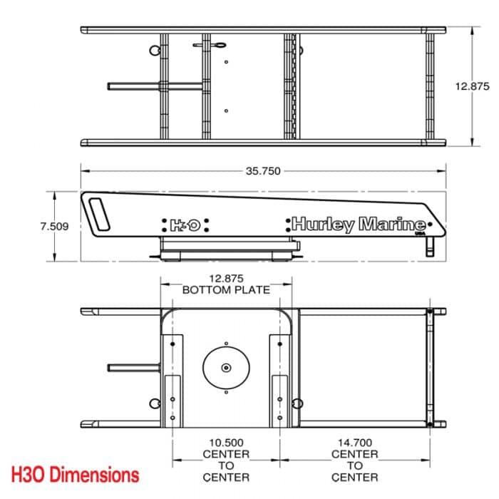 H3O Davit Dimensions