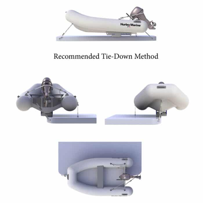 Davit Tie Down Method