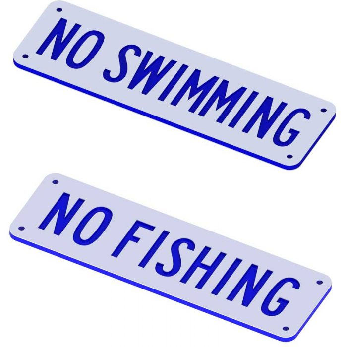 No Swimming No Fishing Sign