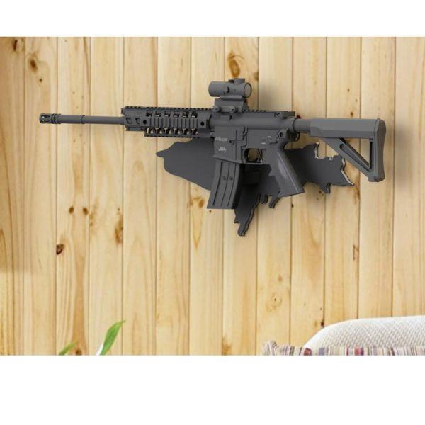 AR-15 Wall mount Gun Stand Display from Hurley Marine