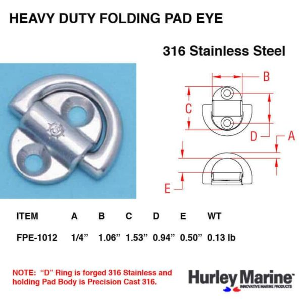 Folding Padeye